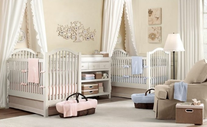 Twin Baby Girl Room Ideas In A Neutral Color