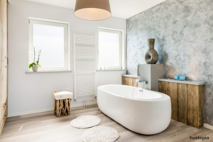 Modern Bathroom with Rustic Touch