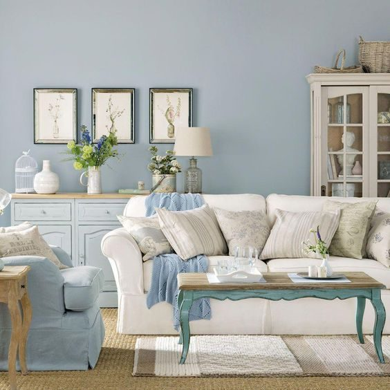 Blue Sea Coastal Living Room