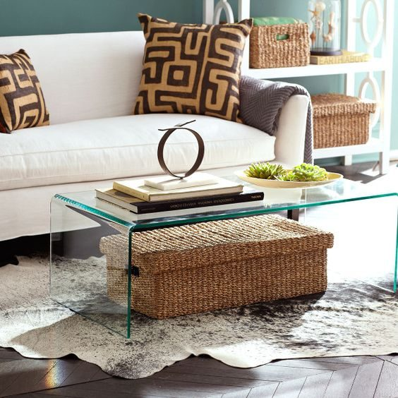 Glass Furniture for Apartment Living Room