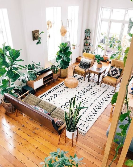 Tropical Small Living Room