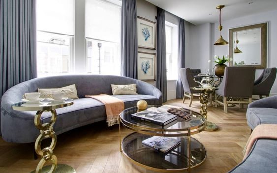 navy living room ideas