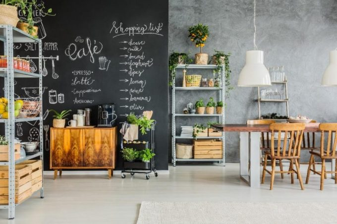 Coffee Bar In Open Kitchen