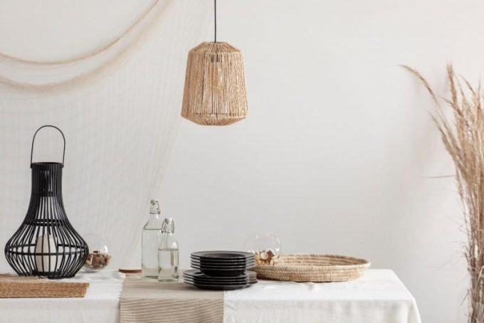 Lanterns made from rattan