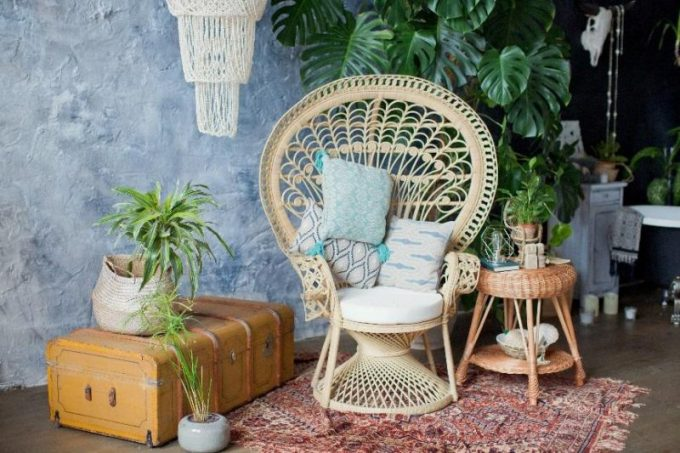 Rattan Funiture for Plant Stands