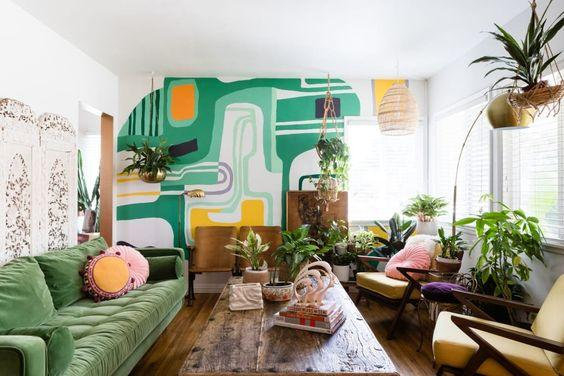 abstract paint living room