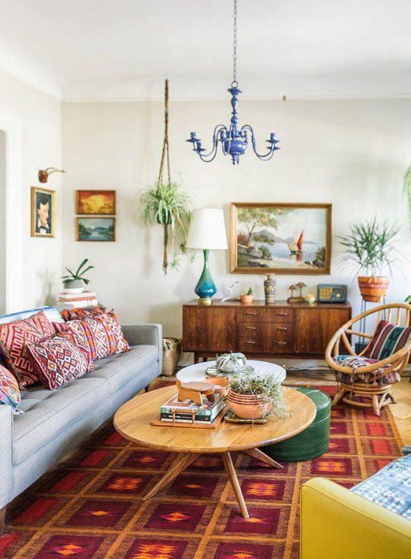 modern minimalist boho living room