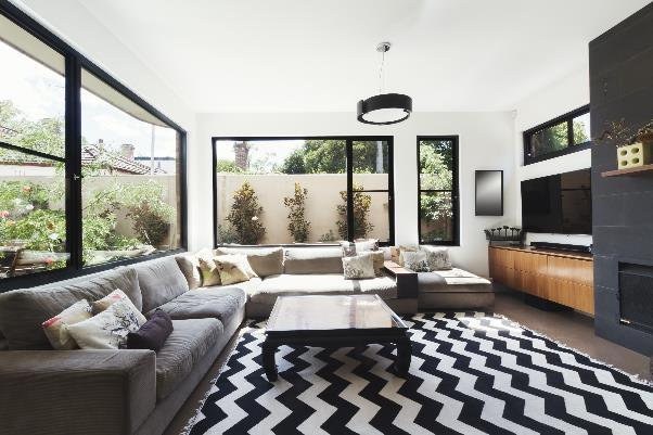 monochrome rug ideas