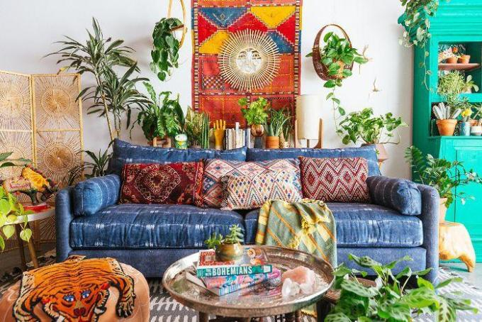 tribal pattern for boho living room