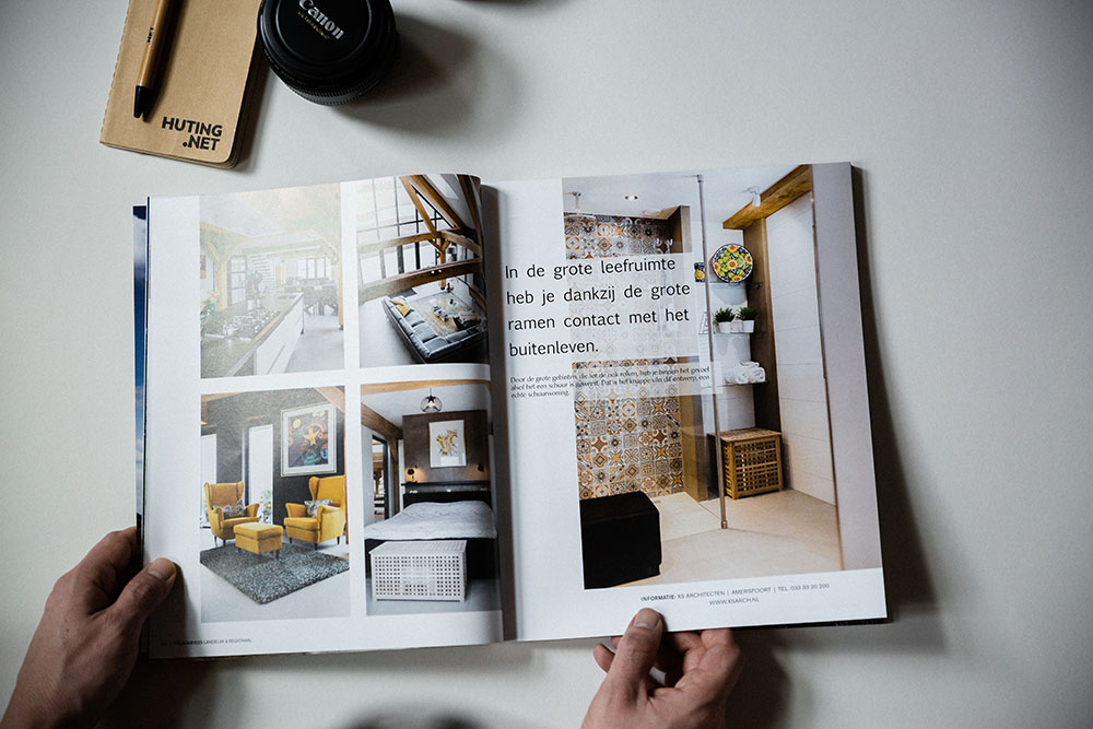 Published Droomhuis magazine - Interior photography