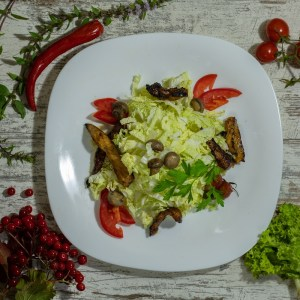 Салат с телятиной (теплый)