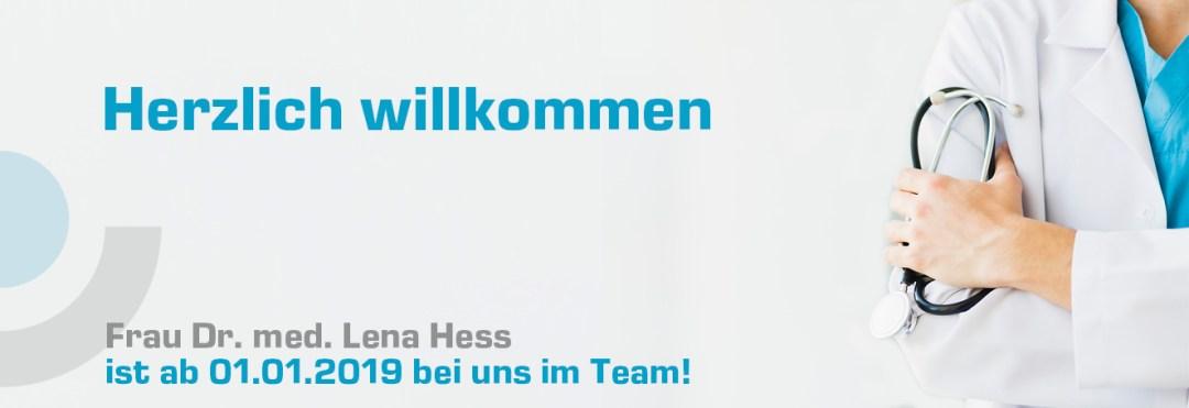 Herzlich willkommen Frau Dr. med. Lena Hess