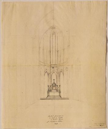 Ontwerp voor het hoogaltaar in de Onze-Lieve-Vrouwkerk te Antwerpen, Jan-Baptist Blom