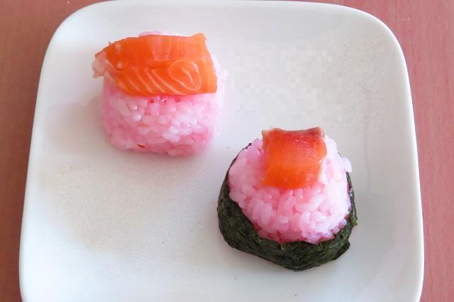 桜でんぶの酢飯ごはん