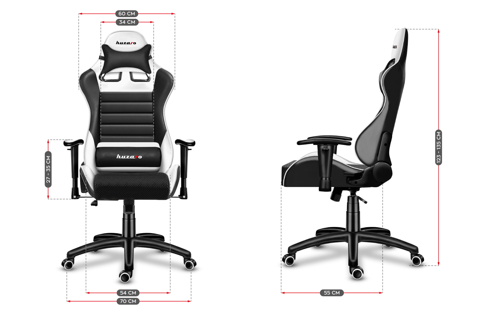 Gaming chair Force 6.0 white11
