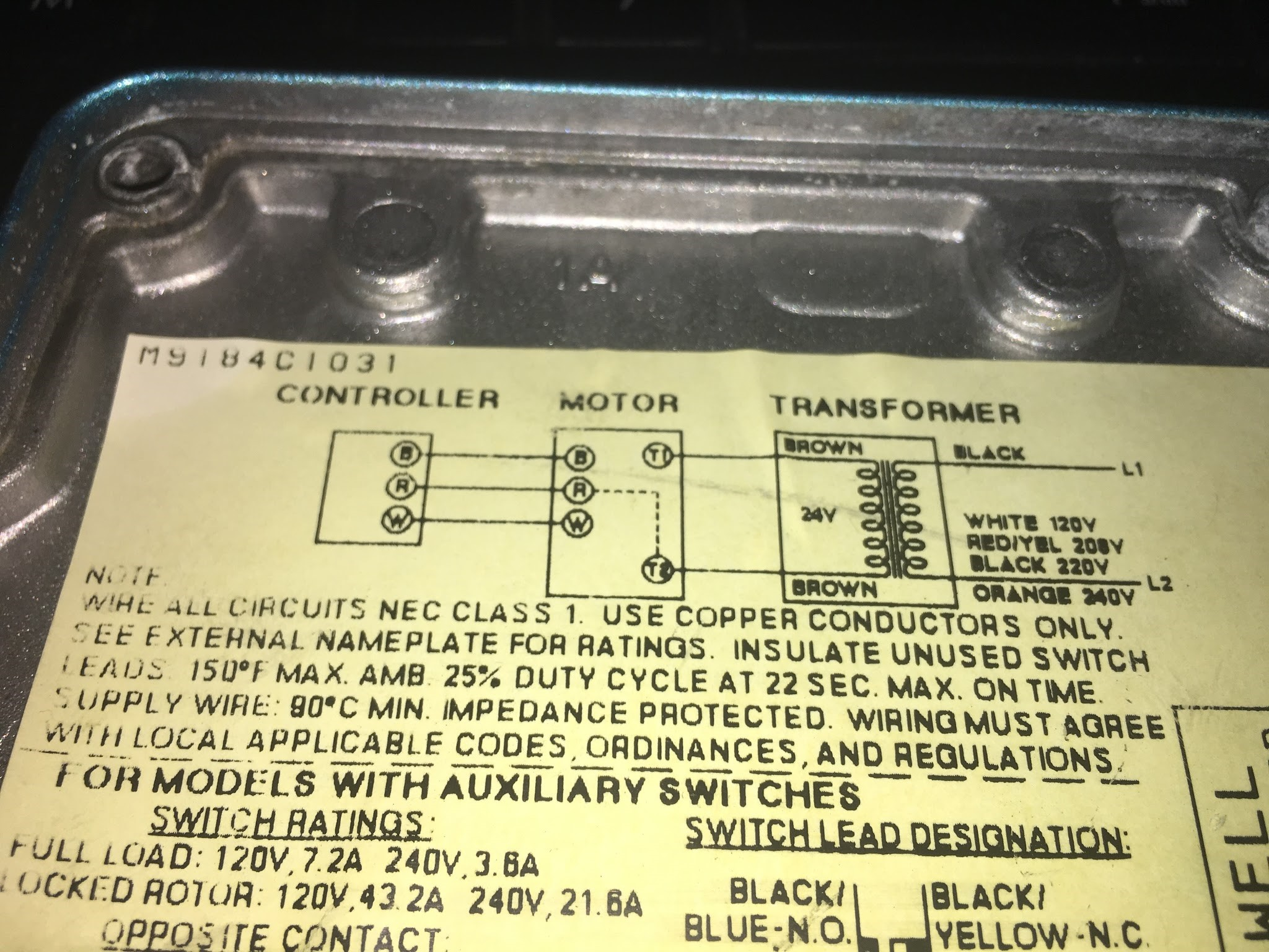 honeywell modutrol wiring diagram wiring library rh 77 codingcommunity de temperature controller wiring diagram the 24v style motors are often supplied with a transformer inside of the motor housing,