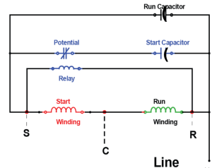 Copeland potential relay wiring diagram run capicator for  wiring online