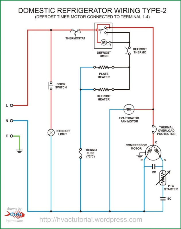 Domestic Refrigerator Wiring | Hermawan's Blog (Refrigeration and Air Conditioning Systems)
