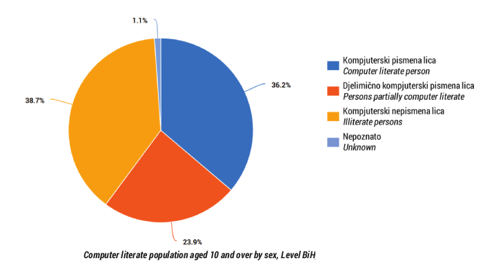 Computer illiterate percentage