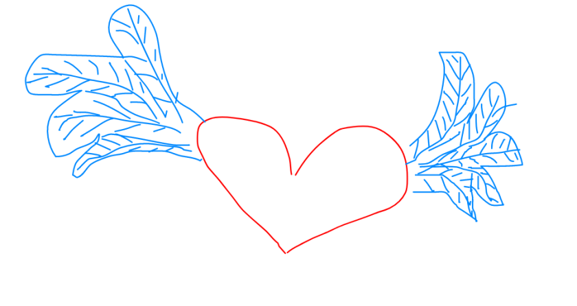 cuore con le ali - heart with wings