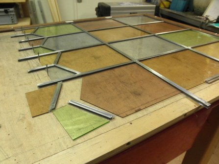 Fabricage glas in lood ruit