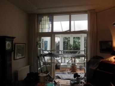 Plaatsing eerste nieuwe raam