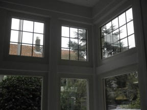 Bovenlichten binnen na restauatie