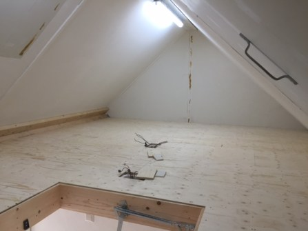 Zoldervloer gereed voor gebruik