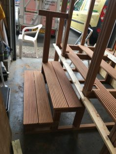 Opbouw nieuwe trap in werkplaats