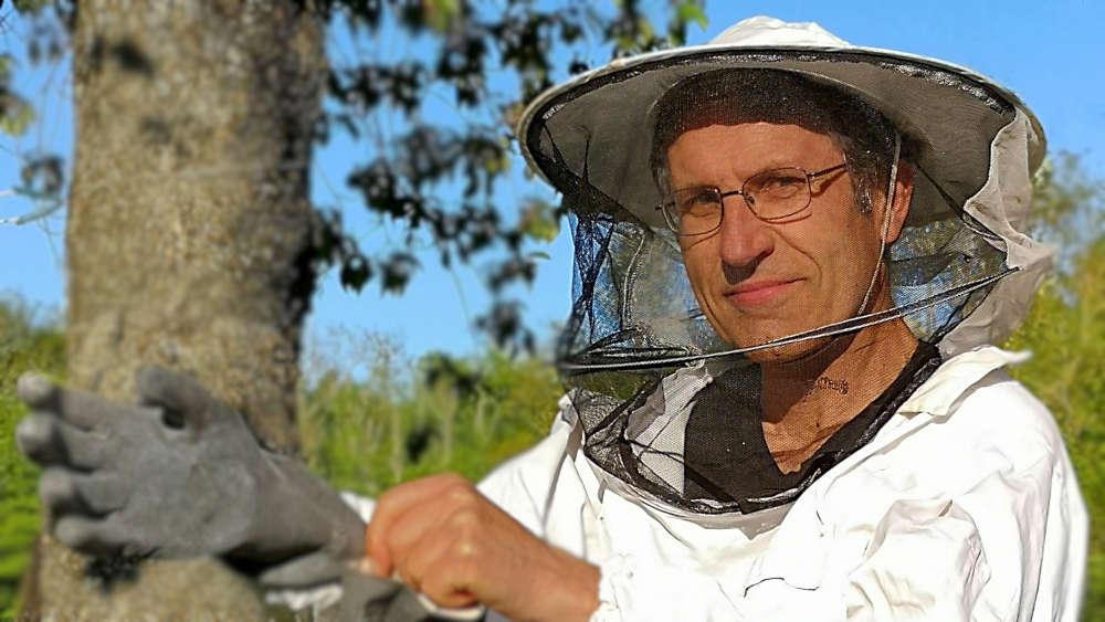 Hvepsemanden tager beskyttelsesdragt på