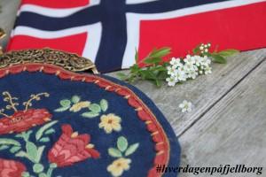 17.mai norske flagg løken veske