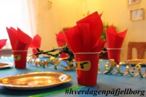 Ninjago bursdag borddekking