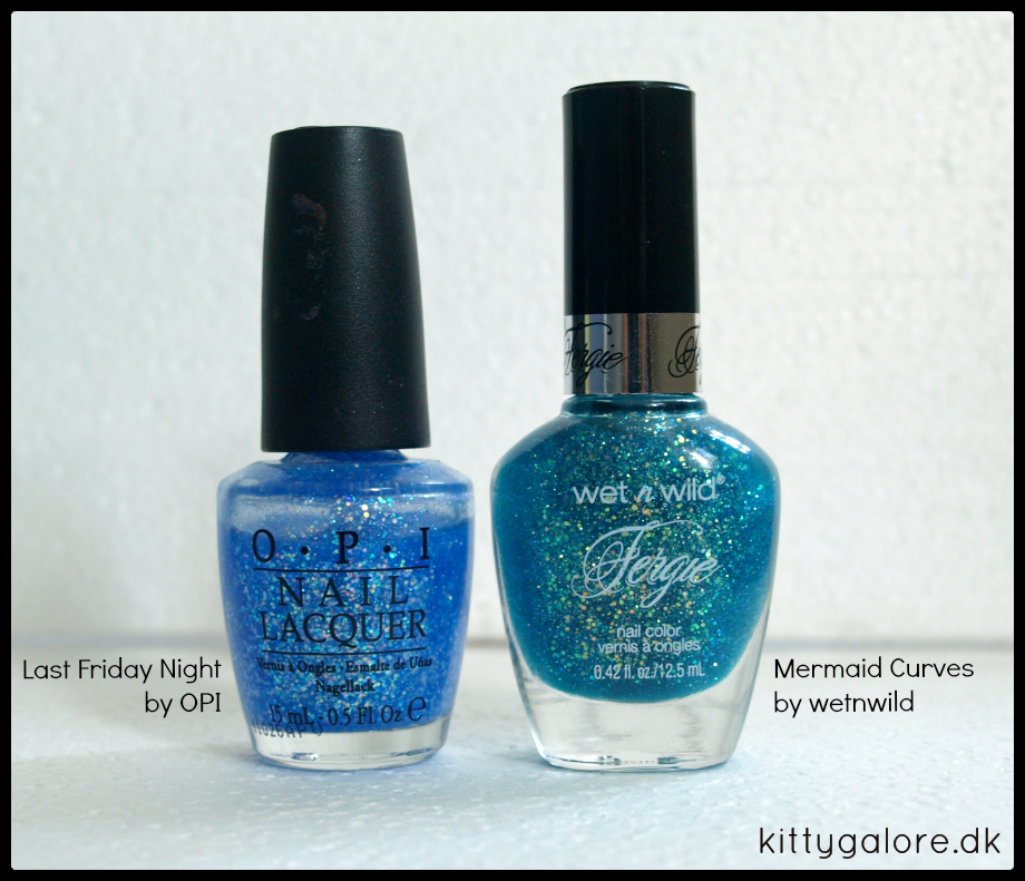 OPI Last Friday Night wetnwild Mermaid Curves neglelak