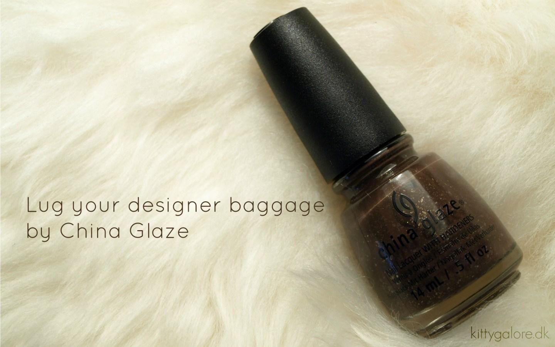 Lug your designer baggage // China Glaze