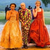 Celia, Touchstone, and Rosalind in AS YOU LIKE IT