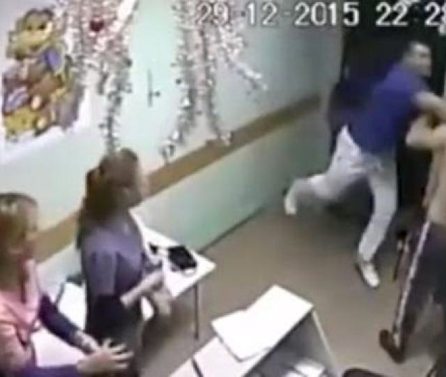 Uploaded January   Caught On Surveillance Russian Doctor Kills A Patient With One Punch