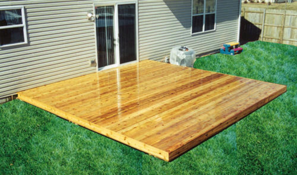 8 x 8 freestanding patio deck