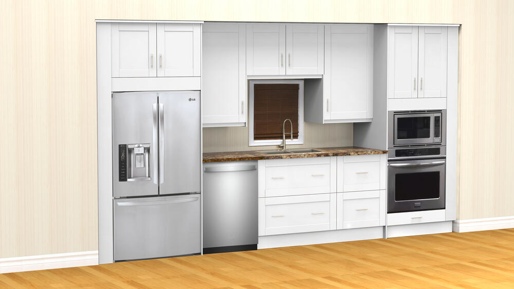 wall oven cabinets only at menards