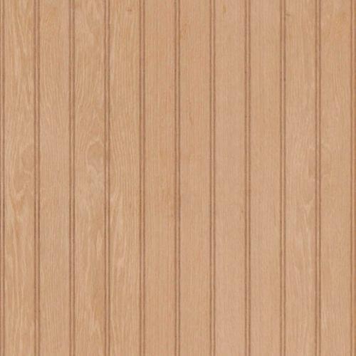 American Pacific 4 X 8 Unfinished Oak 2 Beaded Veneer Wall Panel At Menards