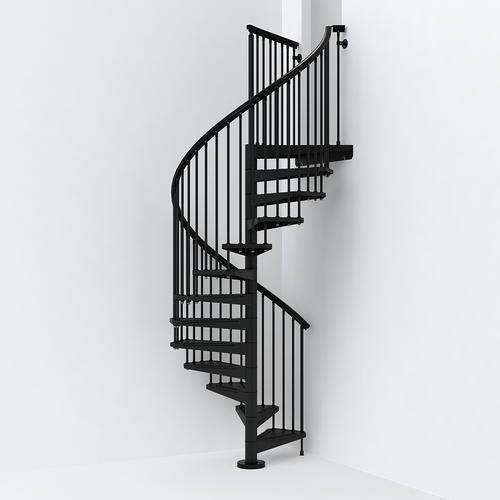 Arke Sky030 55 X 55 X 120 Black Spiral Staircase Kit At Menards®   Self Supporting Spiral Staircase   Staircase Design   London Uk   Stair Case   Santa Fe   Risers