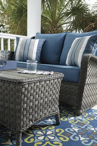 abbots court blue 4 piece seating patio