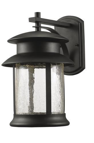 jalissa black led outdoor wall light at