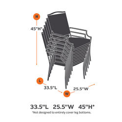 ravenna stackable patio chair cover at