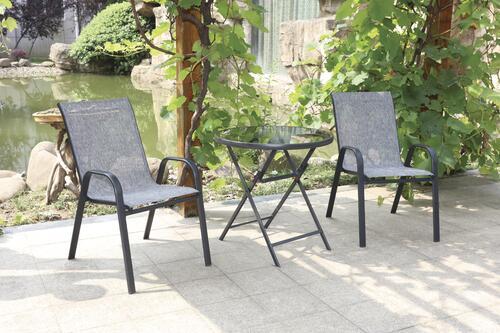fenton gray 3 piece patio bistro set at