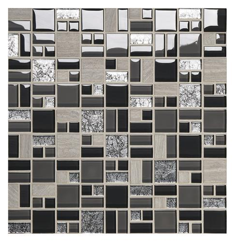 stone and glass wall tile at menards