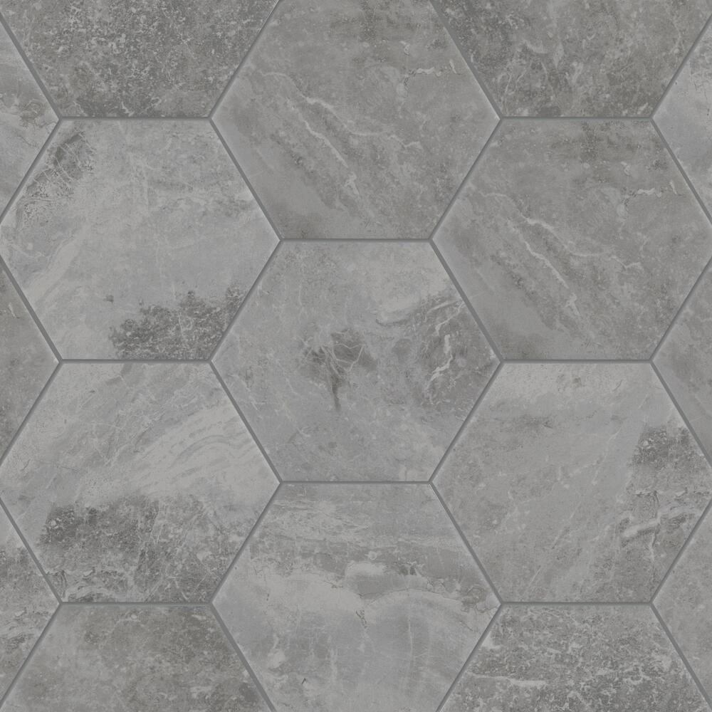 porcelain hexagon floor and wall tile