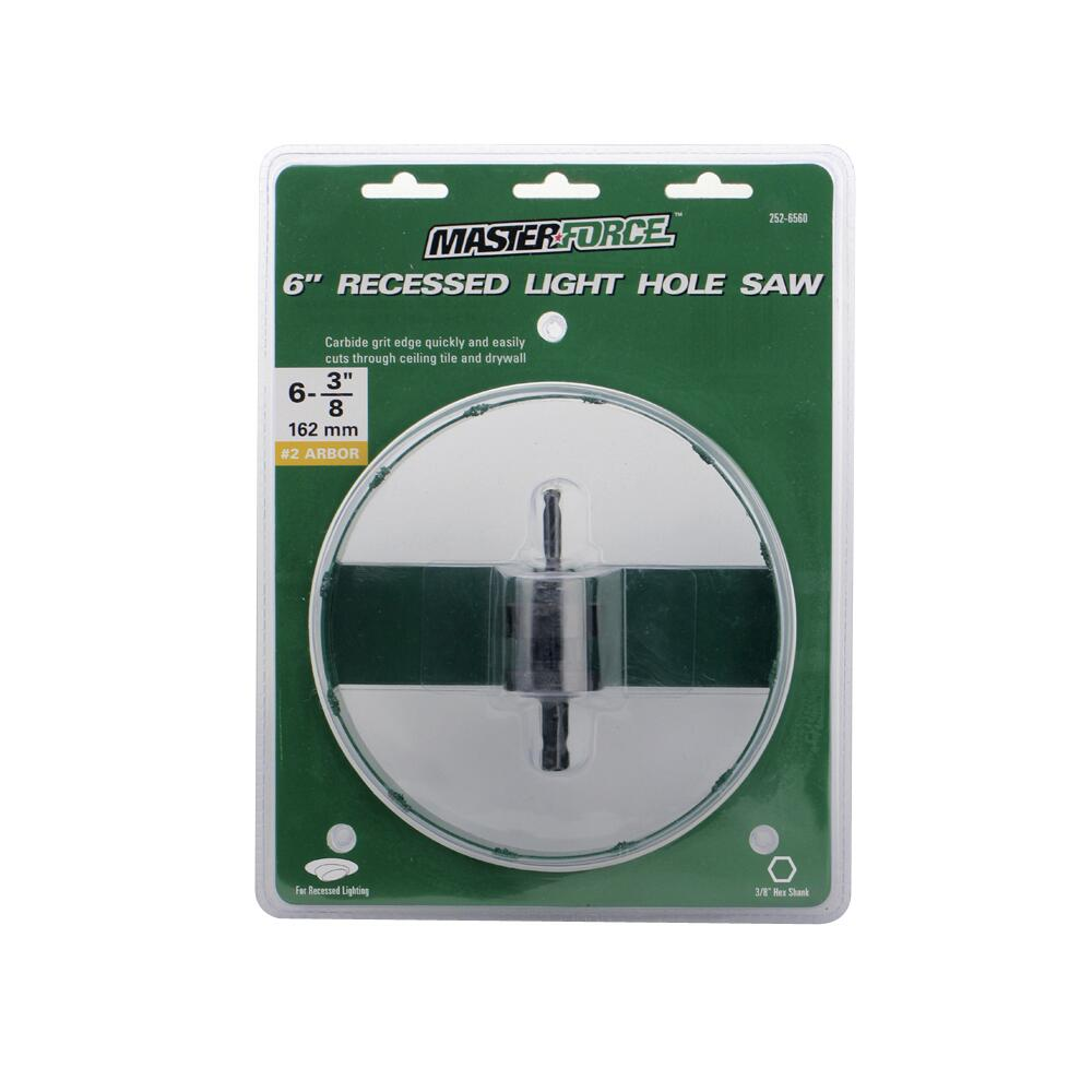 masterforce recessed light hole saw