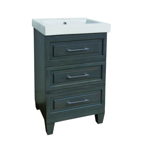 "dolphin plumbing 20"" w x 16"" d naples vanity and white vanity top"