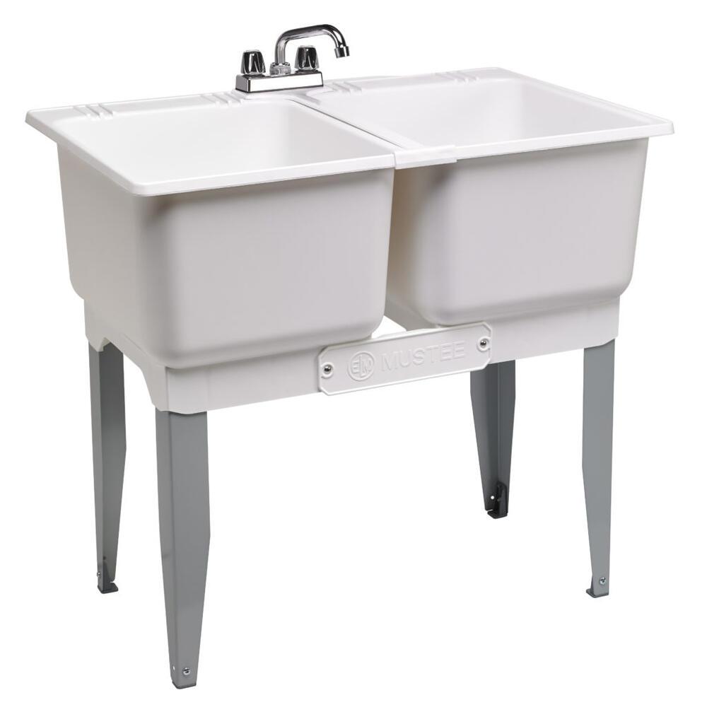 36 w x 23 5 d white plastic floor mount