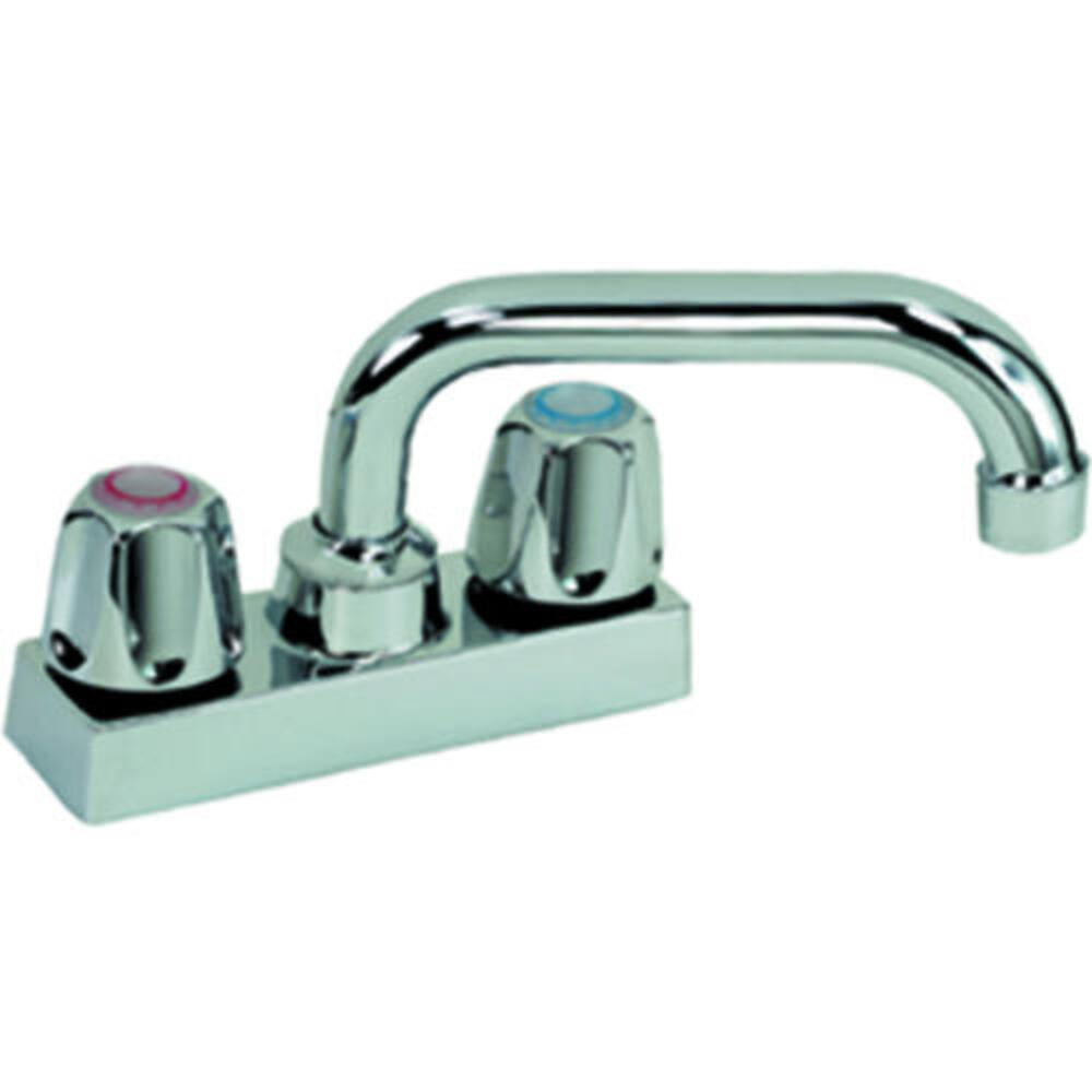 two handle chrome laundry utility sink